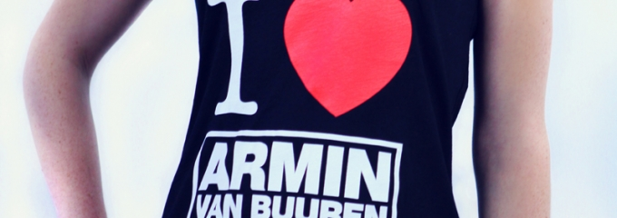 Get your limited edition 'I Love Armin' t-shirt!