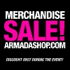 Merchandise sale on Armadashop.com!