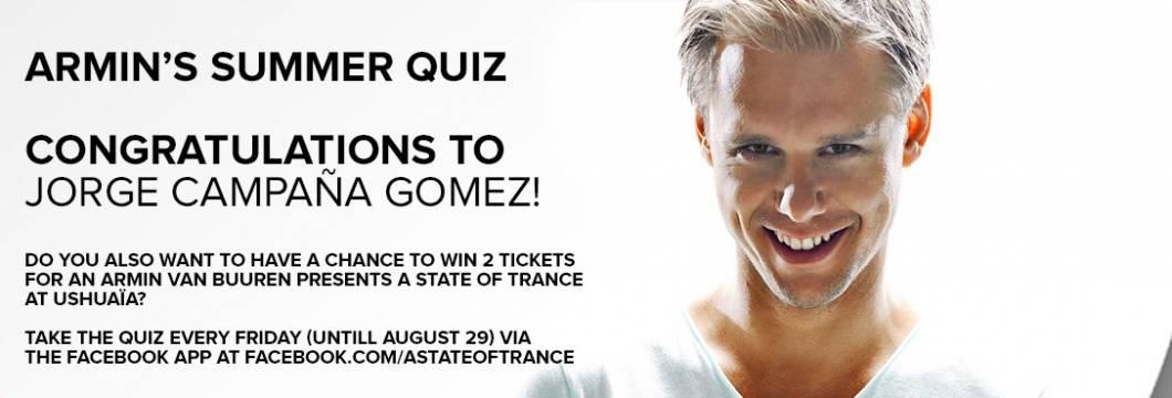 Winner Announced: Armin's 2nd Summer Quiz