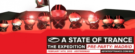 Line-up for ASOT600 pre-party in Madrid announced!