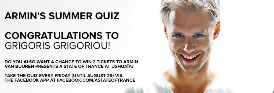 Winner Announced! Armin's Summer Quiz #4