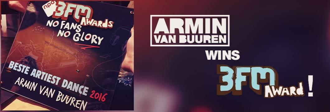 Armin van Buuren wins 'Best Dance Artist' at 3FM awards