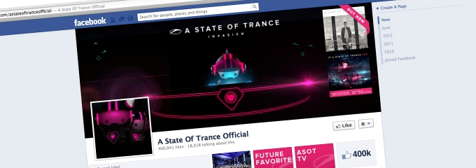 400.000 likes on the ASOT Facebook!