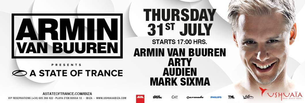 Timetable: ASOT Ushuaia Residency July 31st