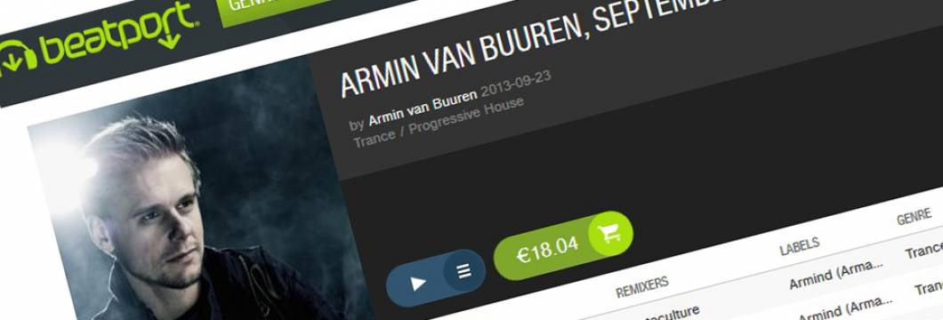 Armin's September chart on Beatport