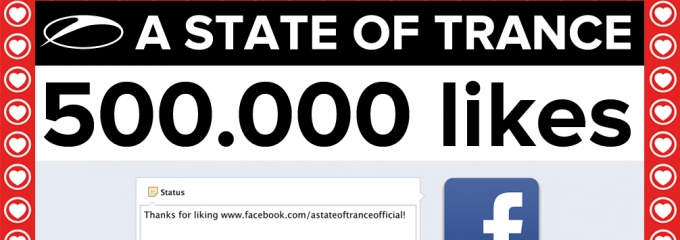 500.000 A State of Trance fans on Facebook!
